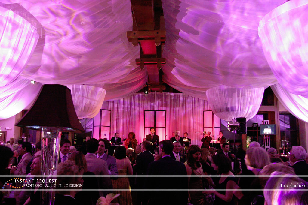 Wedding led uplighting at Interlachen  5