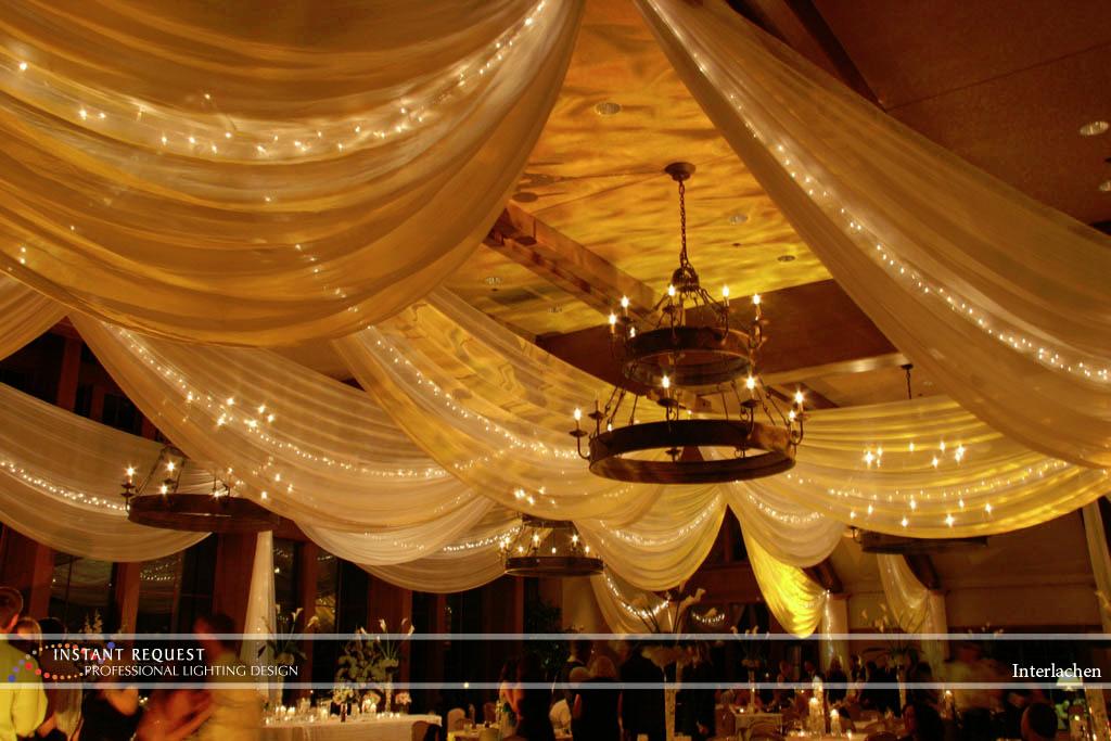 Wedding led uplighting at Interlachen  6