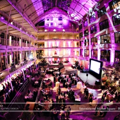 Wedding led uplighting at International Market Square 12