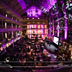 Wedding led uplighting at International Market Square 13