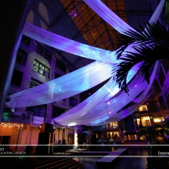 Wedding led uplighting at International Market Square 5