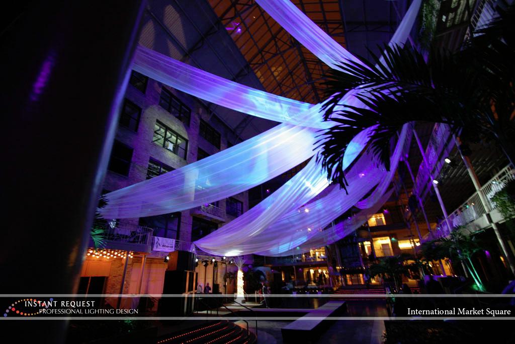 Wedding led uplighting at International Market Square 5