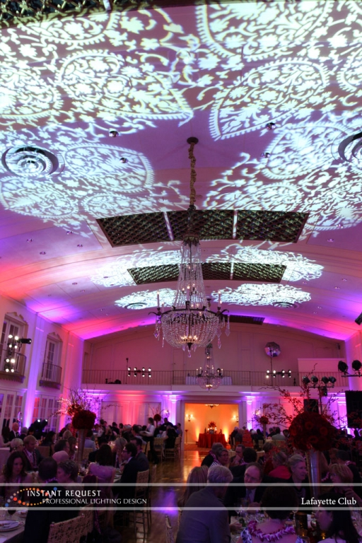 Wedding led uplighting at Lafayette Club 23