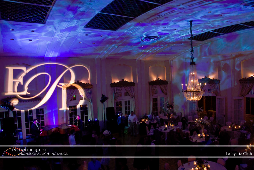 Wedding led uplighting at Lafayette Club 8