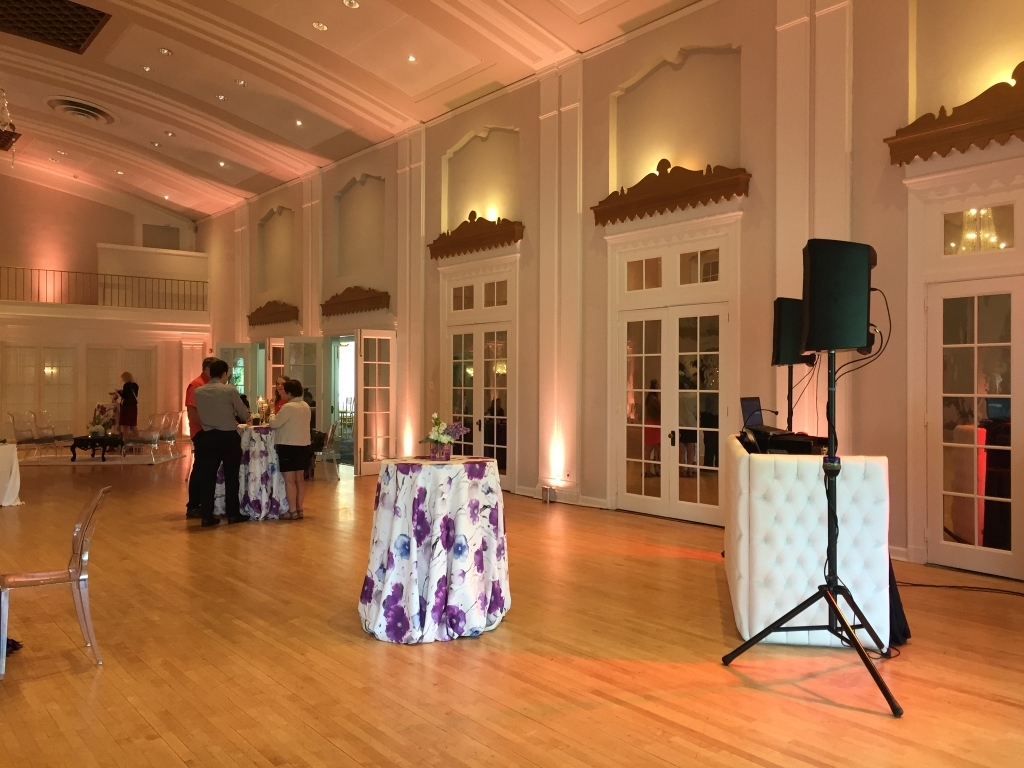 White tufted DJ booth side 5
