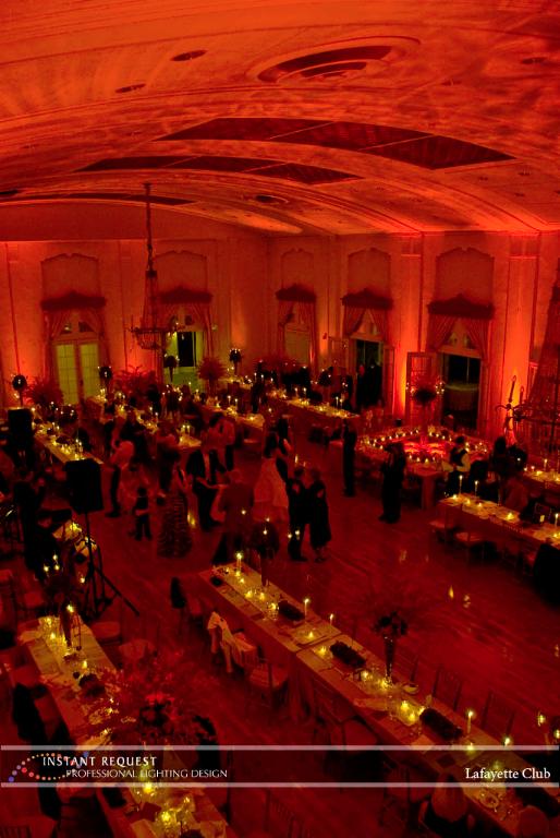 Wedding led uplighting at Lafayette Club 10