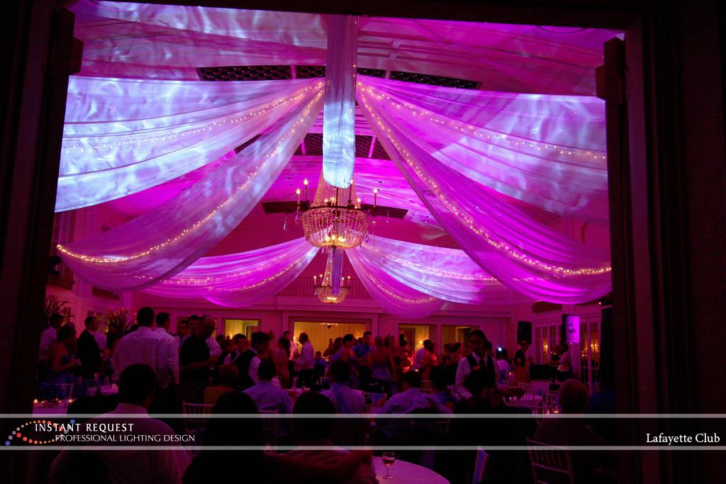 Wedding led uplighting at Lafayette Club 11