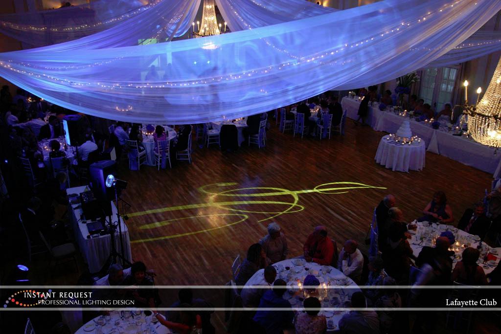 Wedding led uplighting at Lafayette Club 12