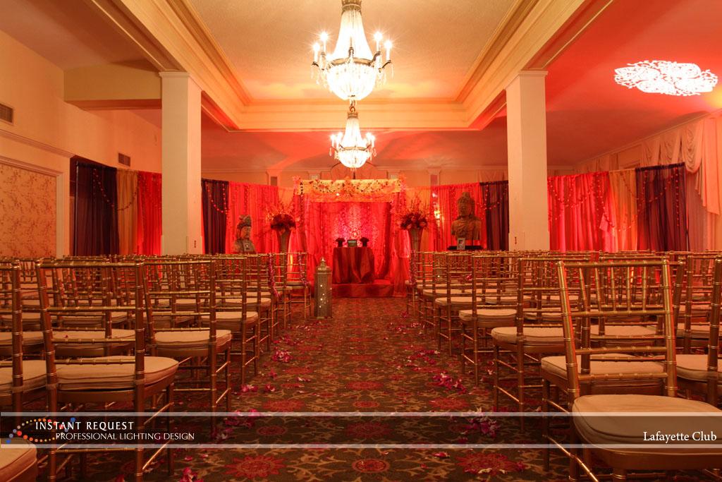 Wedding led uplighting at Lafayette Club 13