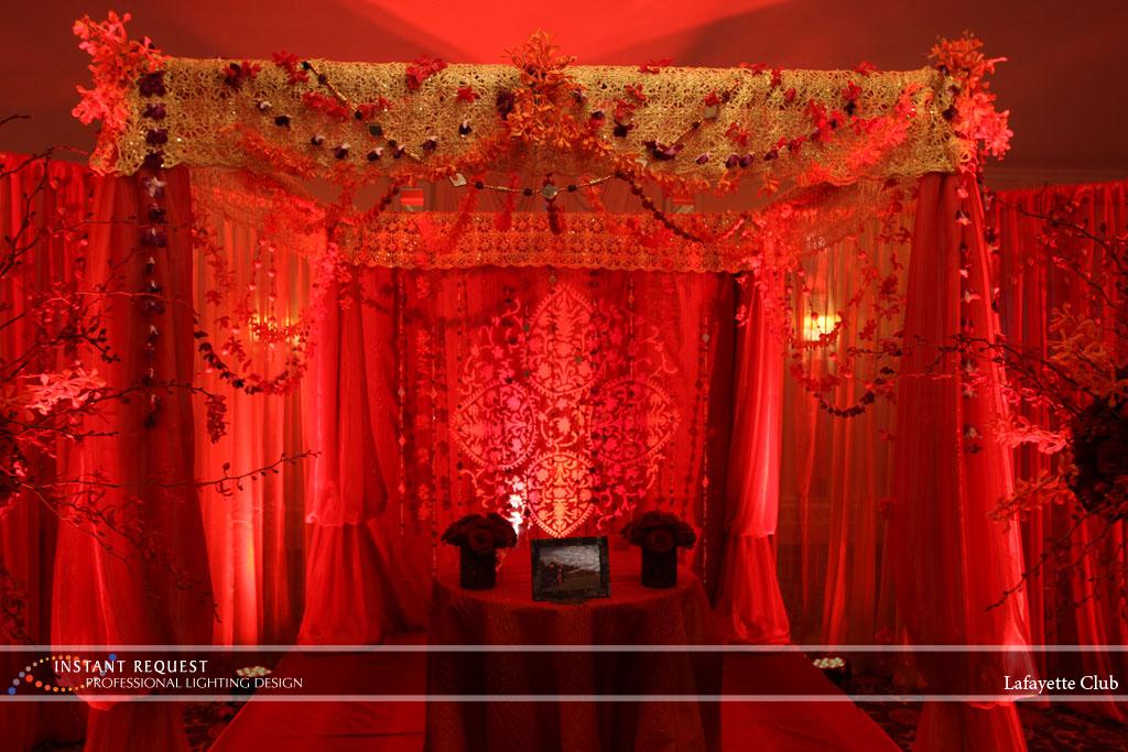 Wedding led uplighting at Lafayette Club 14
