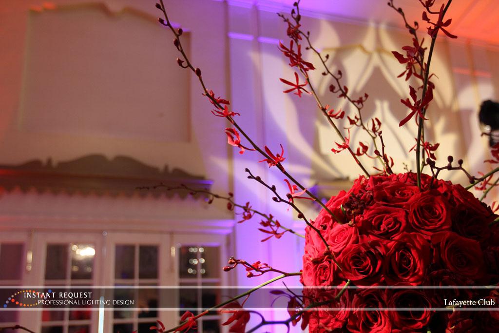 Wedding led uplighting at Lafayette Club 15