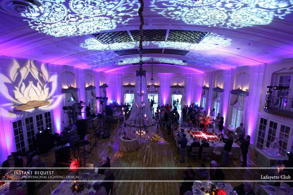 Wedding led uplighting at Lafayette Club 16