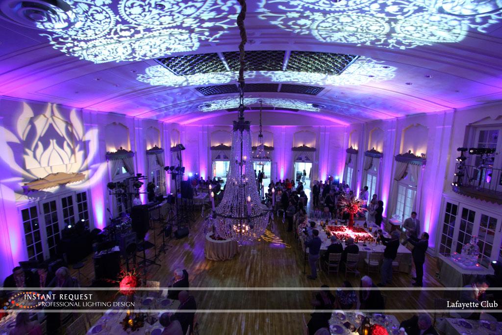 Wedding led uplighting at Lafayette Club 16