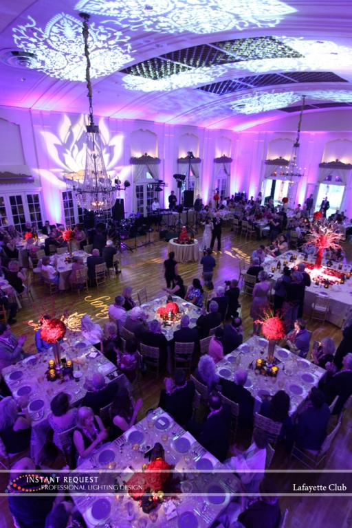 Wedding led uplighting at Lafayette Club 18