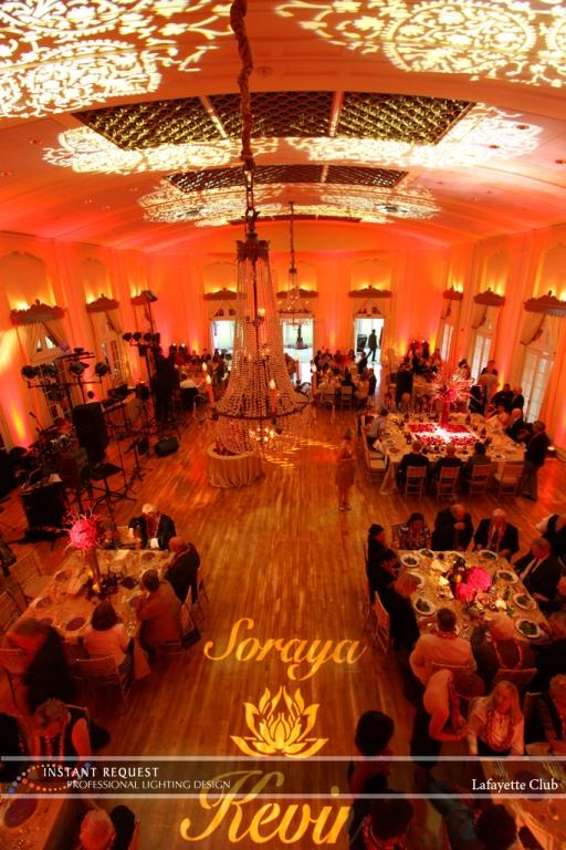 Wedding led uplighting at Lafayette Club 20