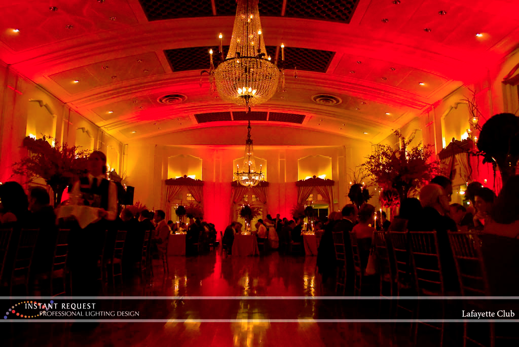 Wedding led uplighting at Lafayette Club 3