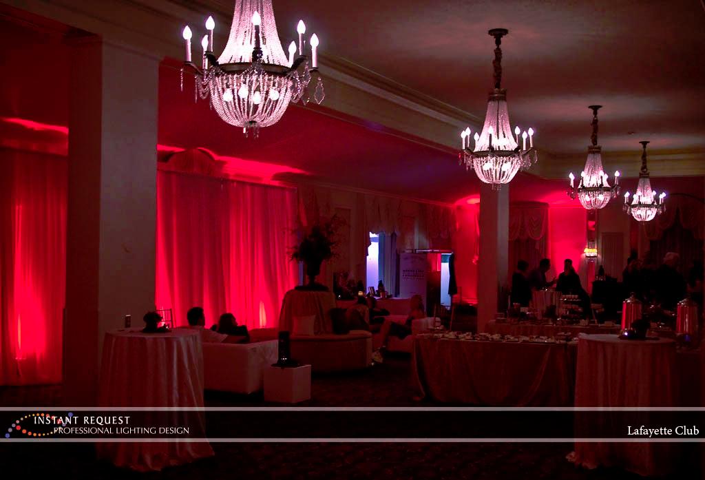 Wedding led uplighting at Lafayette Club 5