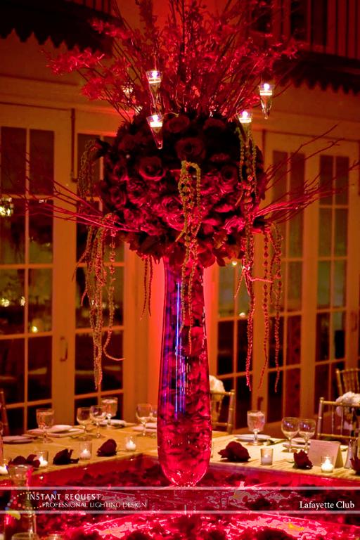 Wedding led uplighting at Lafayette Club 6
