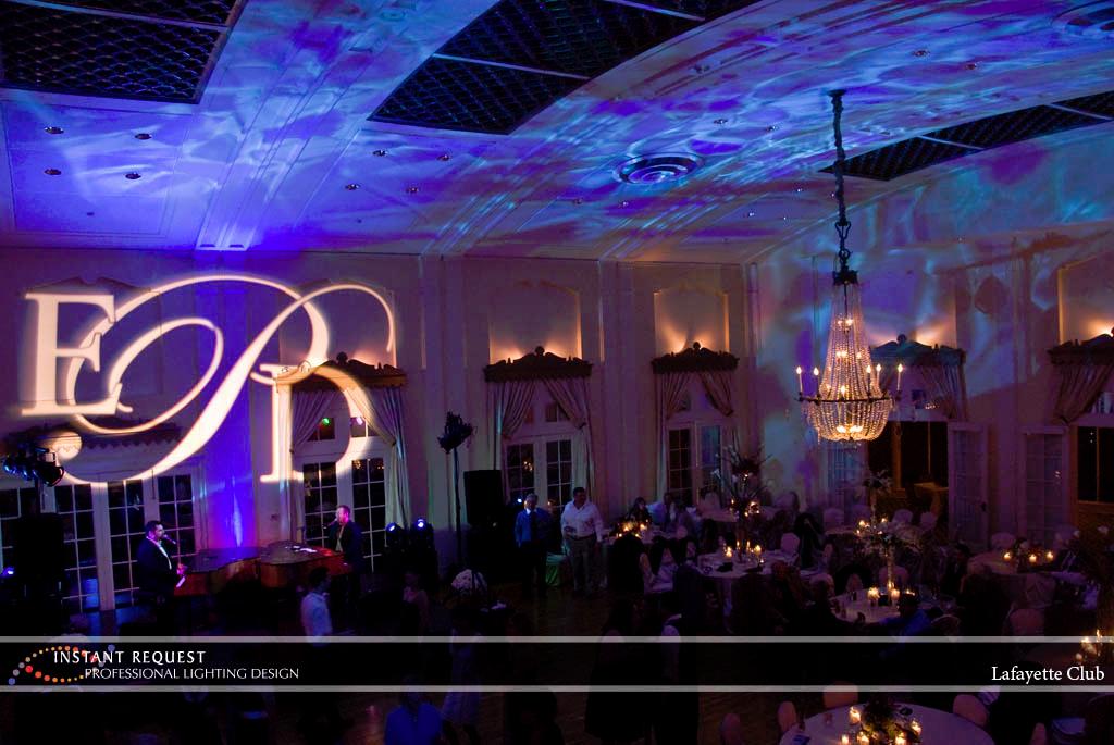 Wedding led uplighting at Lafayette Club 8