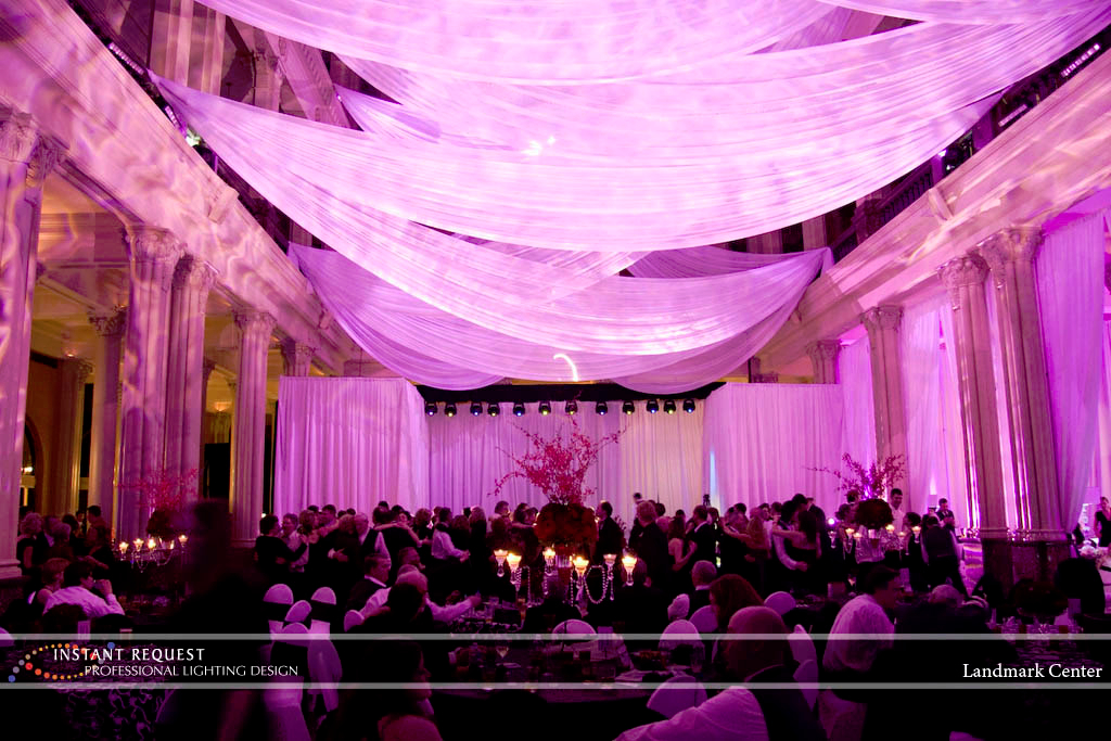Wedding led uplighting at Landmark Center 13