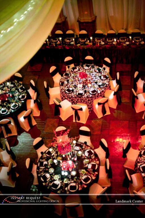 Wedding led uplighting at Landmark Center 15