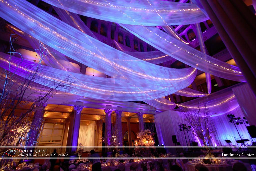 Wedding led uplighting at Landmark Center 2
