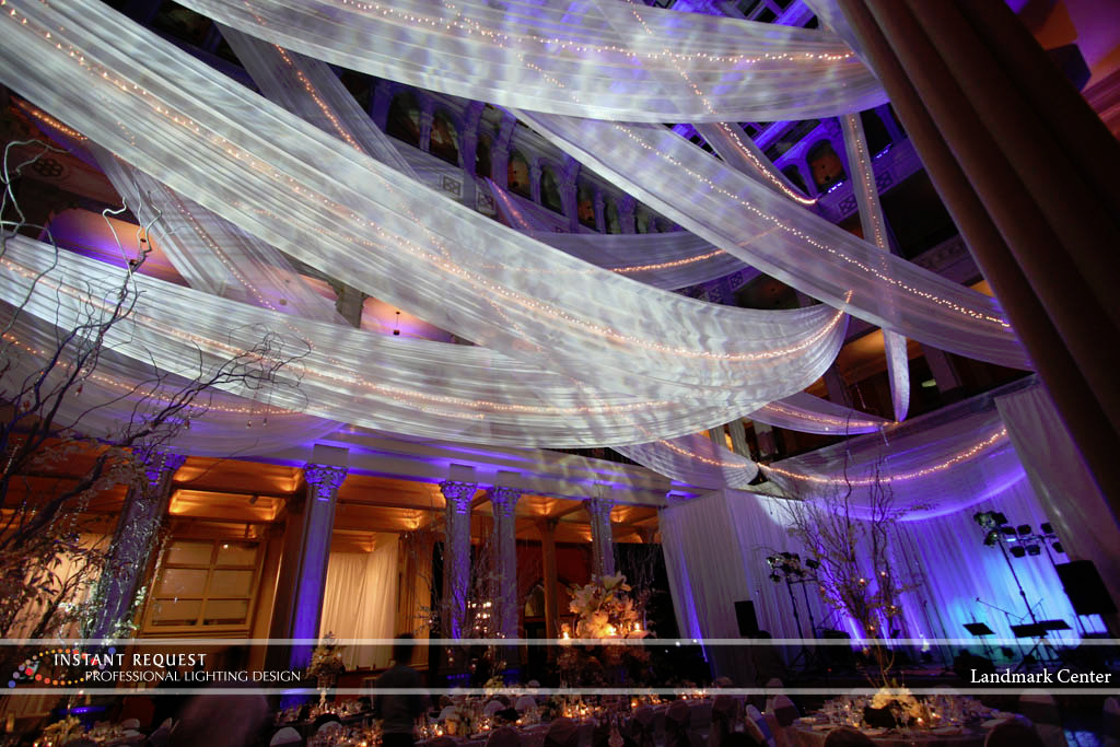 Wedding led uplighting at Landmark Center 3