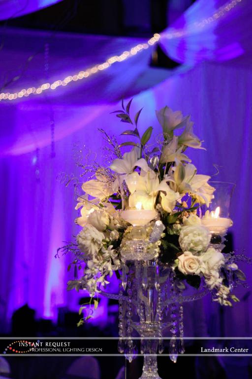 Wedding led uplighting at Landmark Center 5