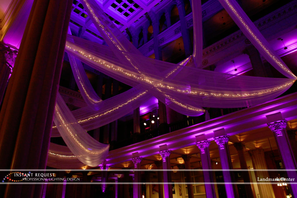 Wedding led uplighting at Landmark Center 7