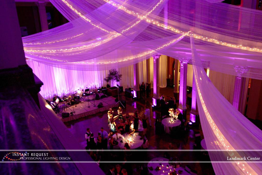 Wedding led uplighting at Landmark Center 8