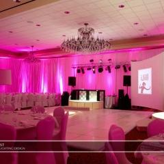 Wedding led uplighting at Marina Inn 1