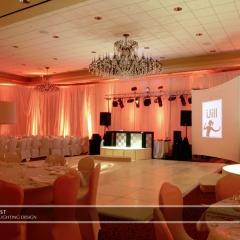 Wedding led uplighting at Marina Inn 2