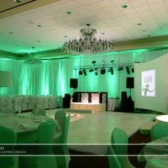 Wedding led uplighting at Marina Inn 3