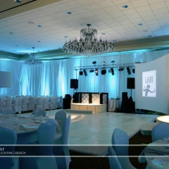 Wedding led uplighting at Marina Inn 4