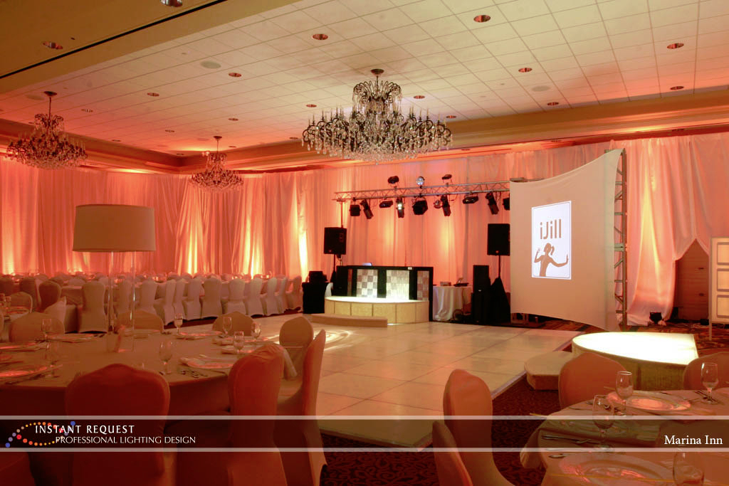 Wedding led uplighting at Marina Inn 2
