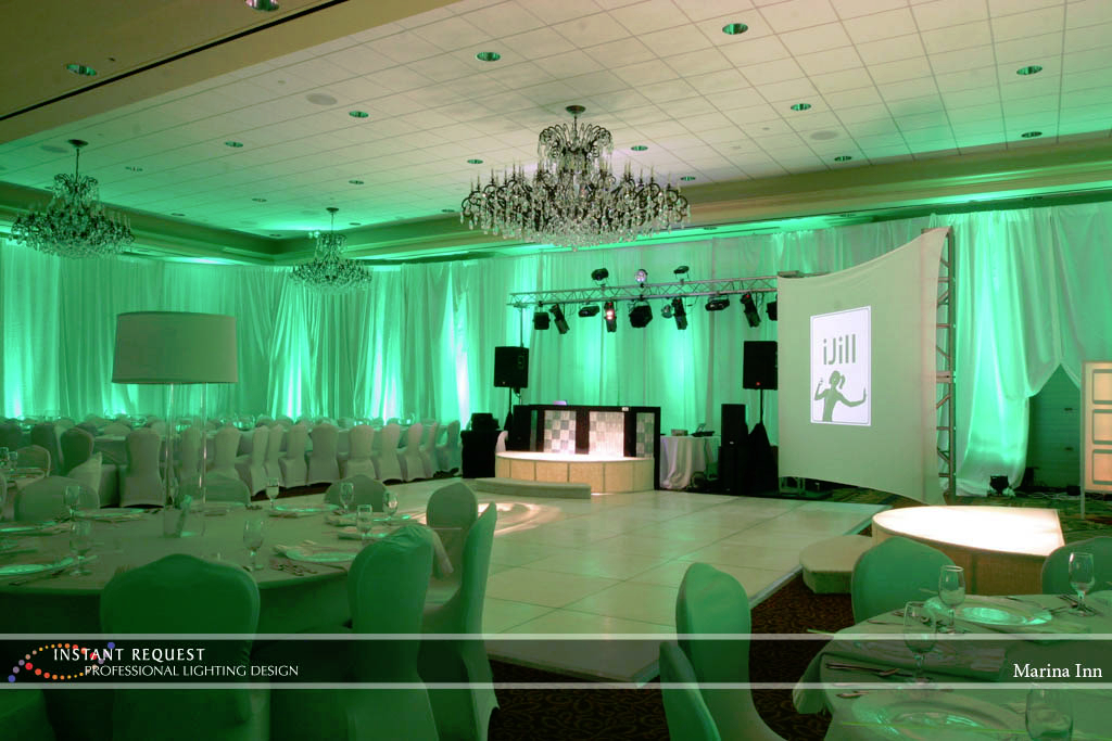 Wedding led uplighting at Marina Inn 3