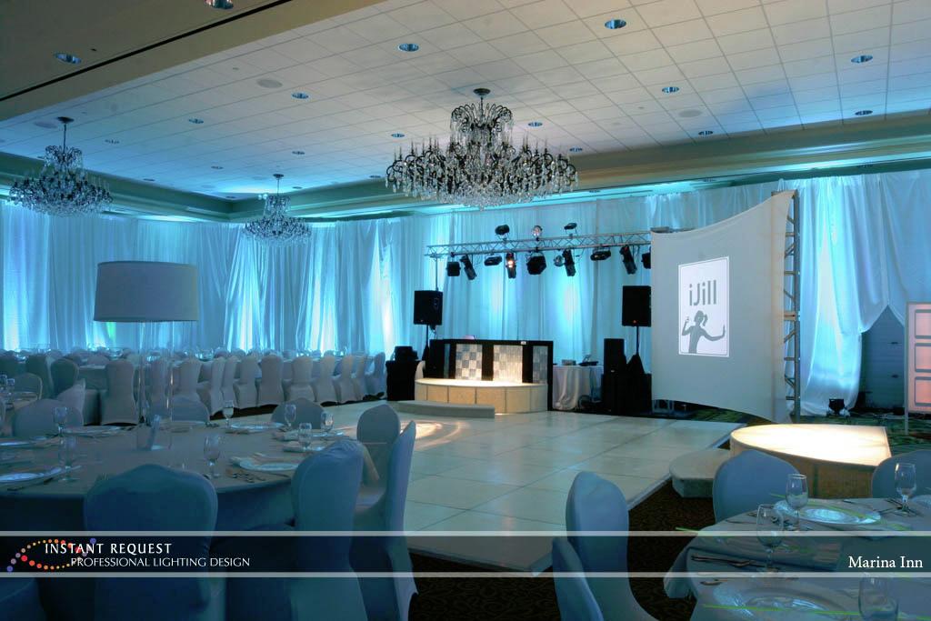 Wedding led uplighting at Marina Inn 4