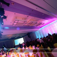 Wedding led uplighting at Marriott 1