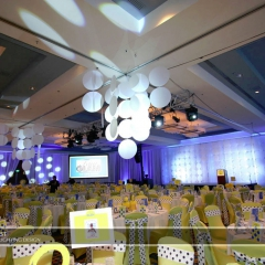 Wedding led uplighting at Marriott 2