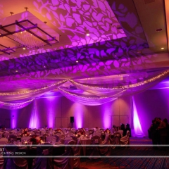 Wedding led uplighting at Marriott 4