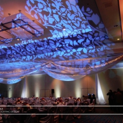 Wedding led uplighting at Marriott 6