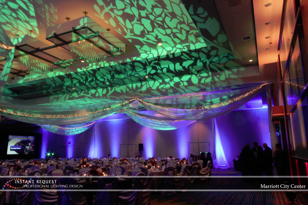Wedding led uplighting at Marriott 7