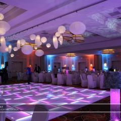 Wedding led uplighting at Marriott 11