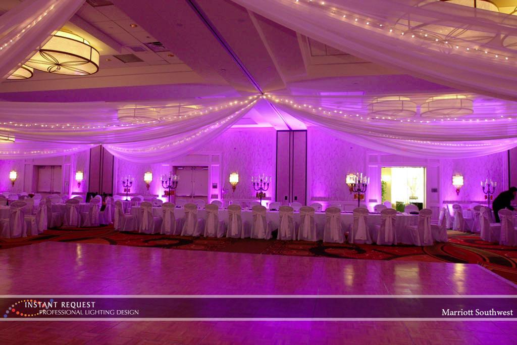 Wedding led uplighting at Marriott 5