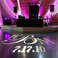 Wedding led uplighting at McNamara 1
