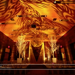 Wedding led uplighting at McNamara 15