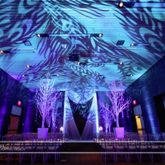 Wedding led uplighting at McNamara 16