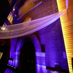 Wedding led uplighting at McNamara 18