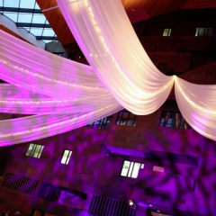 Wedding led uplighting at McNamara 4