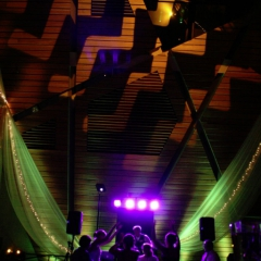 Wedding led uplighting at McNamara 5